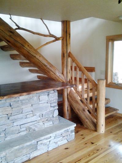 Driftwood Railing in Custom Home